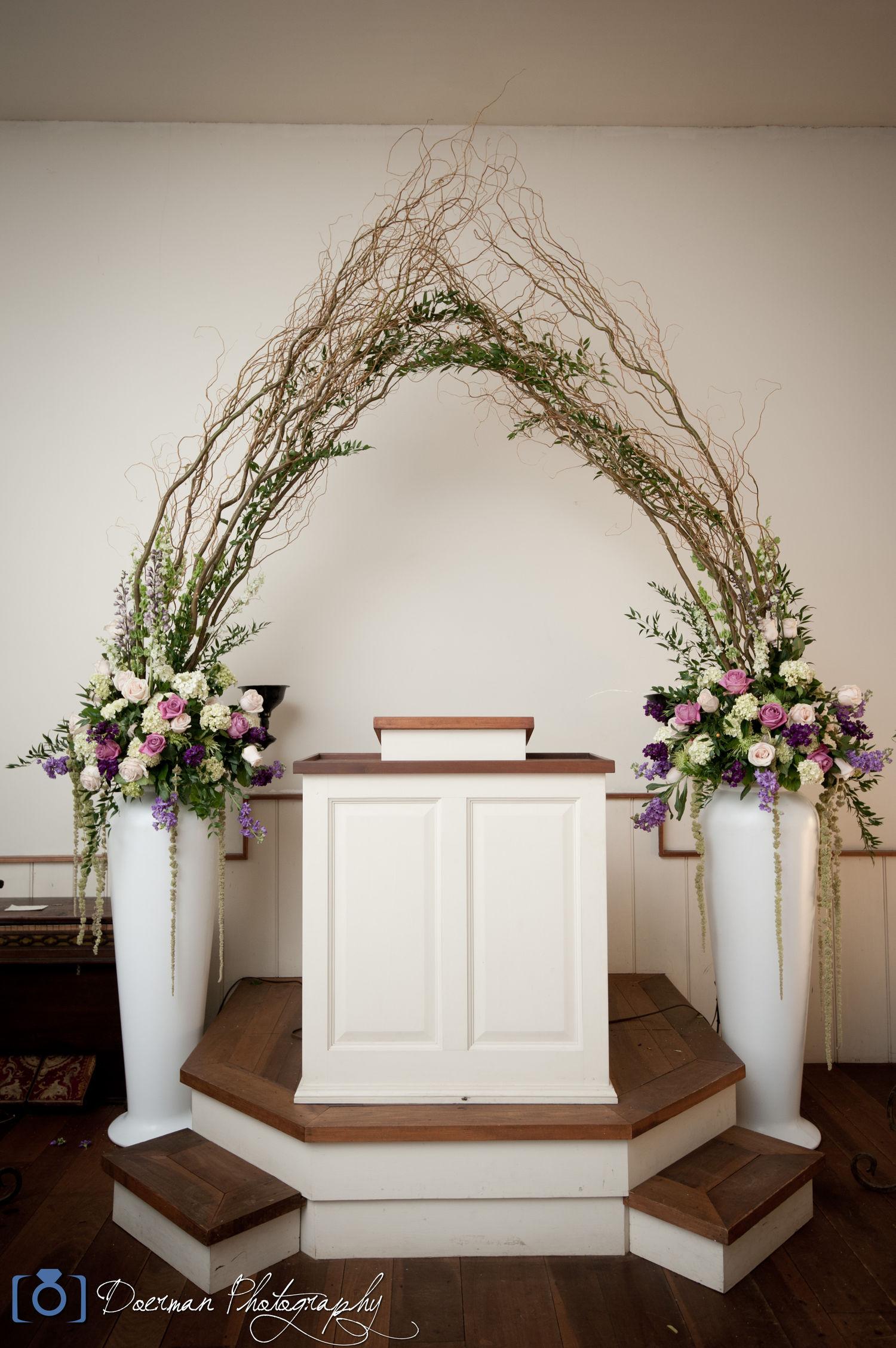 Rebel hill florist wedding altar floral arrangement photo album junglespirit Images